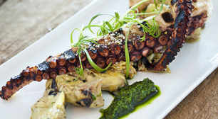 Grilled Octopus w/ Artichokes
